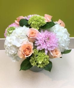 Green, Purple and White Floral Arrangement - Bergen County, NJ