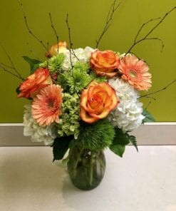 Orange Rose Floral Arrangement in Mahwah, NJ