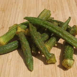 Spicy Okra Vegetable Chips