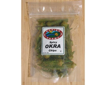 Spicy Okra Chips Bag