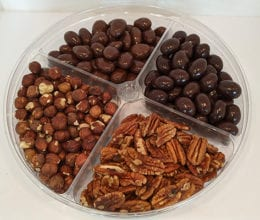 Chocolate Tray with Dark & Milk Chocolate Covered Nuts